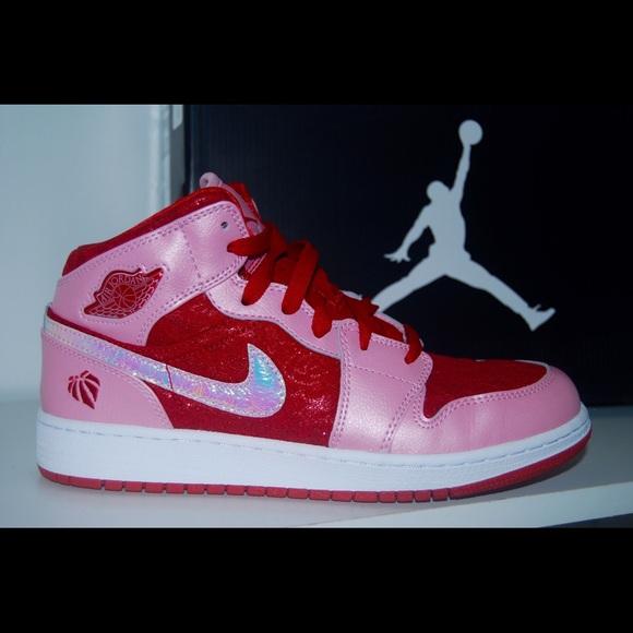 9a875aea40d Jordan Shoes - Nike Air Jordan 1 Mid Prem GS Girls
