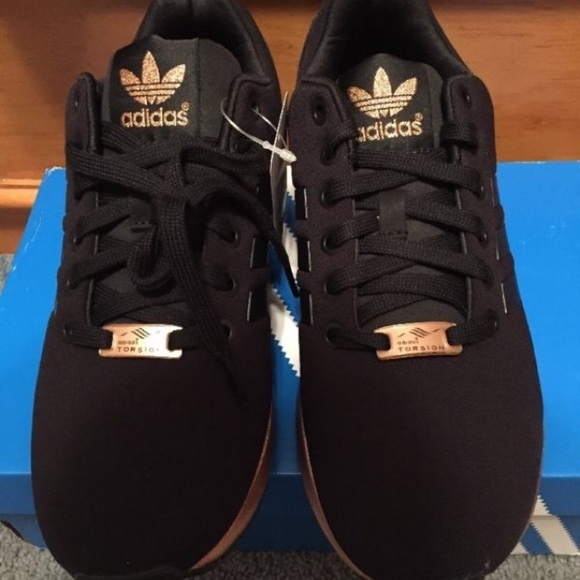 Adidas Shoes Zx Flux Black And Gold