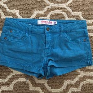 Celebrity Pink Pants - Bright blue shorts