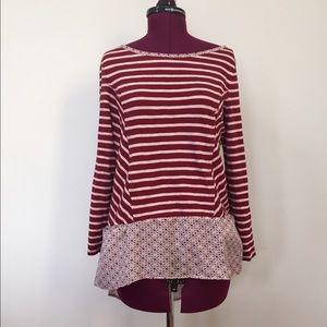 Anthropologie Striped High-Low Tunic
