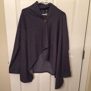 bobeau Sweaters - NWT Bobeau One-Button Fleece Wrap Cardigan
