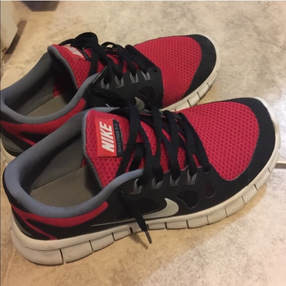 847746549c24c Nike Shoes - Nike Free 5.0 Red Black Women s Ladies Boys Shoes