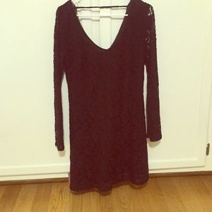 Black lace formal dress!