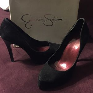 Jessica Simpson Black Suede Pumps Size 7.5