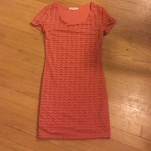 Muted orange frill dress