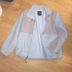 Light blue classic north face jacket