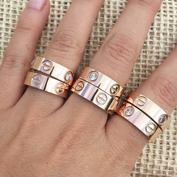 Trumpet Jewels  Jewelry - 🆕Love Rings Sizes 5-10 3 Colors, 18K Gold Plated!