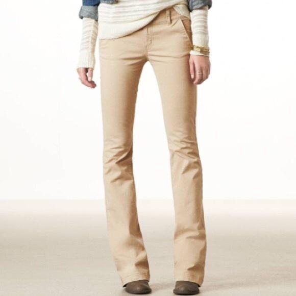31202184074 American Eagle Outfitters Pants - 🆕SHORT Length AEO Artist Bootcut Khaki  Pants