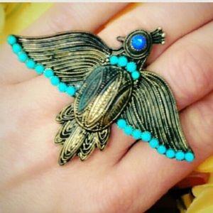 Vintage Jewelry - Vintage 2 Finger Phoenix Ring! Extraordinary!