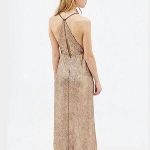 F21 metallic dress NWT