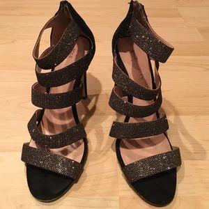 Speckled Gold/Black Heels