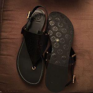 dcc75585eca19 Tory Burch Shoes - Tory Burch Black Daniela Sandal Size 10