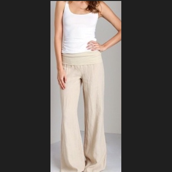 75% off Jolie Pants - NWT JOLIE FOLD OVER YOGA LINEN YOGA PANTS ...