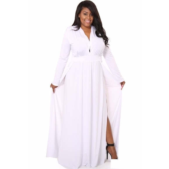 Dresses   White Plus Size Maxi Dress   Poshmark