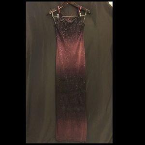 Beautiful vintage ombré prom dress low back