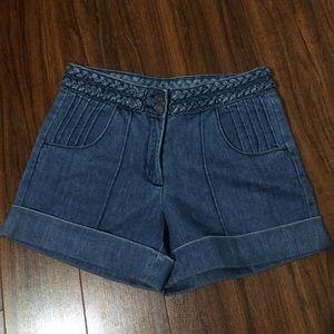 Rodarte Pants - Braided belt trouser Jean shorts