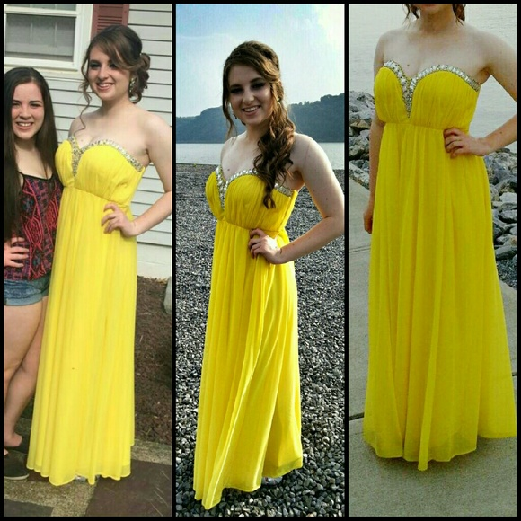 Neon Yellow Long Prom Dresses