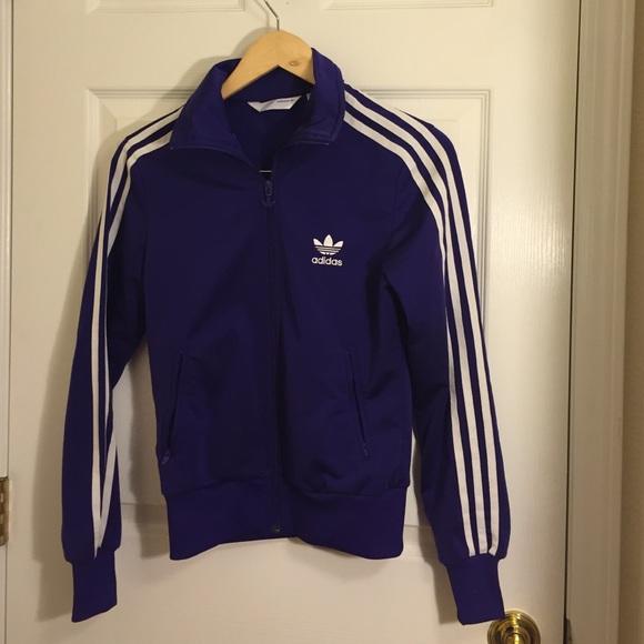 3e6a4f03e436 Adidas Jackets   Blazers - Purple Adidas track jacket