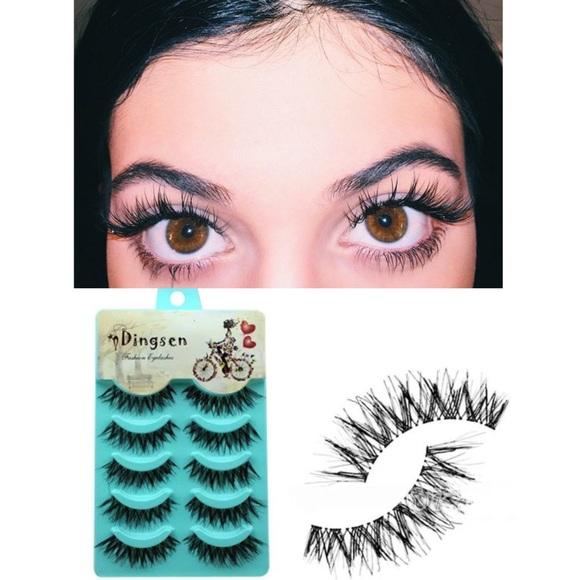 Makeup 5 Pairs Black Voluminous False Eyelashes Poshmark