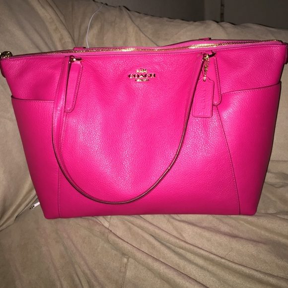 80184d98f534 Coach Handbags - Coach pebbled leather ava 2 tote pink ruby