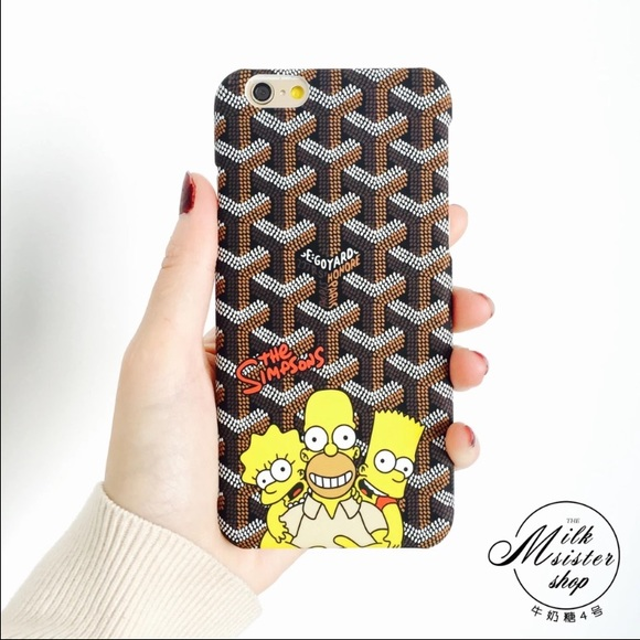 new style a1f03 a6738 Goyard Simpsons iphone case 6/6s NWT