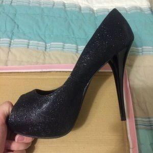Black glitter high heel size 10