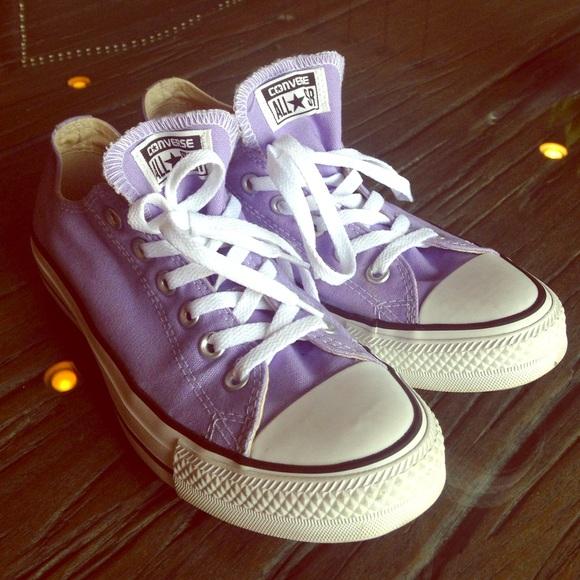 5d4490d3e000 Converse Shoes - Light Purple Converse Low Tops