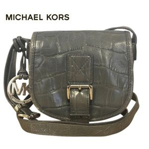 Michael Kors crossbody embossed leather bag