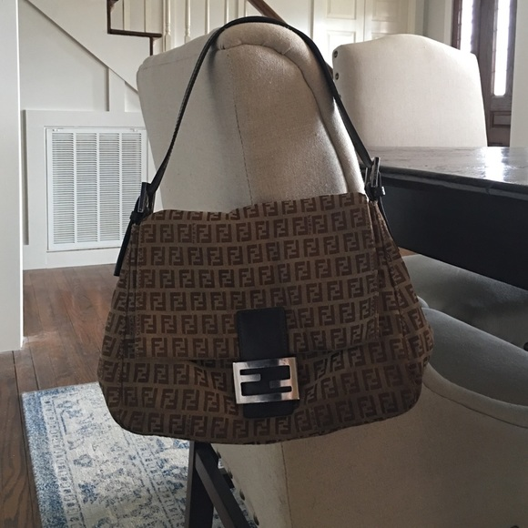 6d9f569f268c FENDI Handbags - Fendi Zucchini Canvas Mamma Forever Shoulder Bag