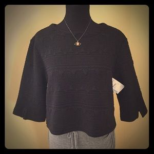 💋Michael Star Textured Boxy Top size M