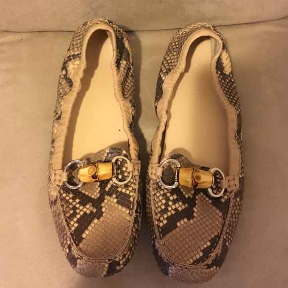 Gucci Shoes | Gucci Snakeskin Loafers