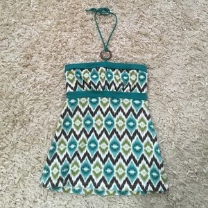 Self Esteem Tops - NWT! Green and Brown String Halter Top