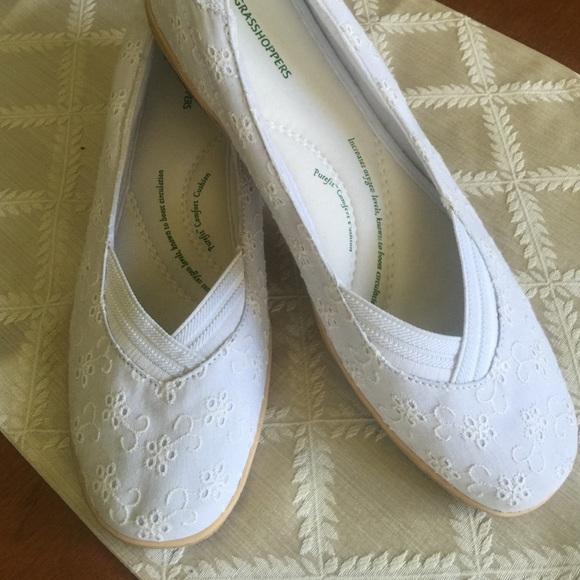 Grasshoppers Shoes - White women s grasshoppers size 10 eyelet design c6853ca8b