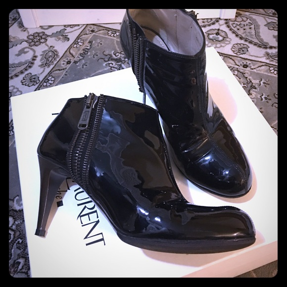 14638bc1bd3 Yves Saint Laurent Shoes | Used Ysl Patent Ankle Booties | Poshmark