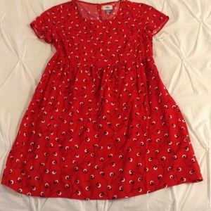 Old Navy red flower dress.