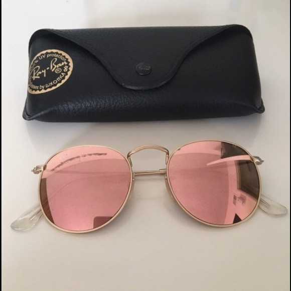 Ray Ban Round Metal Flash Lenses