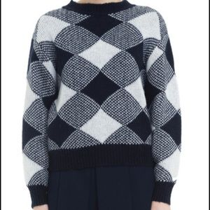 Grid sweater blue