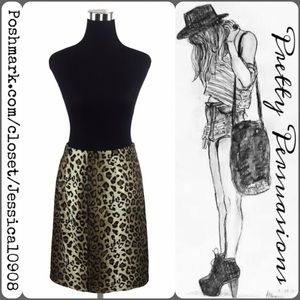 Valerie Stevens Dresses & Skirts - NWT Leopard Print Velvet Skirt