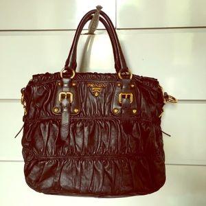 prada handbag knockoffs - 100% off Prada Handbags - TRADED Authentic Prada Nappa Weave Tote ...