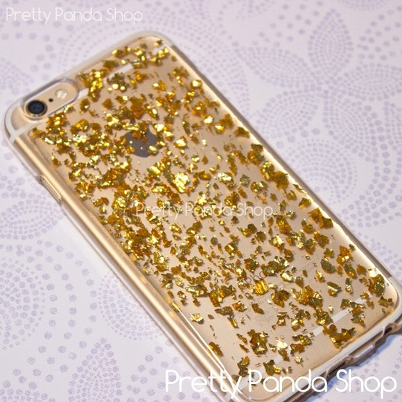 quality design a315f 84eaf iPhone 6 6s plus gold flake flexible phone case