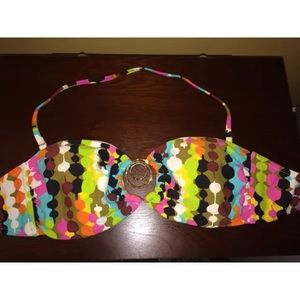Other - Multi Colored Bandeau Bathing Suit Top