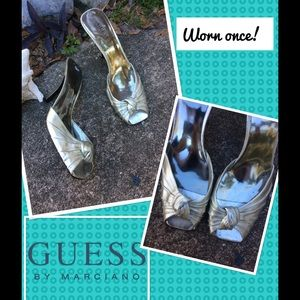 Guess by Marciano Shoes - GUESS by MARCIANO-----SILVER PEEP TOE ‼️FINAL‼️