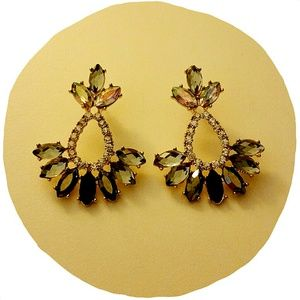 Rhinestone Bling Stud Earrings