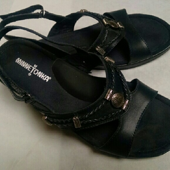 Navy Blue Leather Sandal