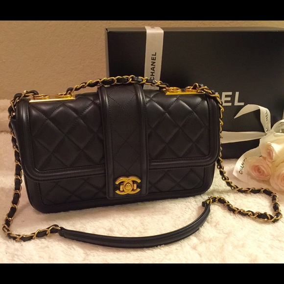 20% off CHANEL Handbags - CHANEL Lambskin Flap wGold Hardware ... : chanel bag black quilted - Adamdwight.com