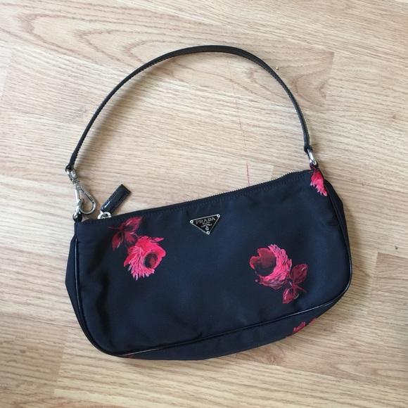 f16bf2c6dd18 Prada Authentic floral nylon shoulder bag. M_56d9f8b52fd0b79833009436