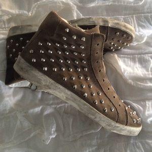 Steve Madden studded sneakers
