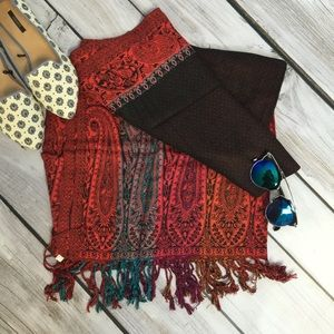 Accessories - Multi-colored pashmina scarf