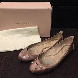 Loeffler Randall Pink Satin Ballerina Flats