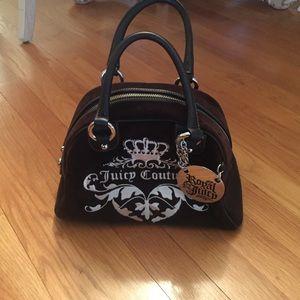 Juicy couture velvet bowler bag